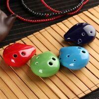 6 Hole Ocarina Soprano C Key Ceramic Mini Flute Musical Instruments Random Color
