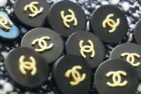Stamped 100% Authentic Chanel  Buttons 11 pieces  💋😍😘👍 20  mm black