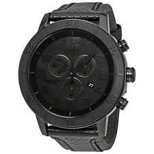 Citizen BRT Eco-Drive Chronograph Black Leather Strap Mens Watch AT2205-01E