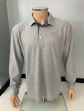 Hugo Boss Sooper Mens Long Sleeve Polo Top, Size XXL, Grey, Vgc