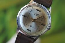 GREAT MEN'S VINTAGE MECCANICA: Hand-winding USSR RAKETA Watch 21 gioielli
