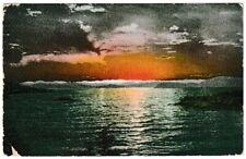 Ansichtskarte - Künstlerkarte - Sonnenuntergang am See - Stempel Seattle 1907
