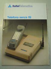 MANUALE D'ISTRUZIONI - ITALTEL TELEMATICA - TELEFONO SENZA FILI  VINTAGE C10-911