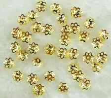 1000Pcs 6mm Gold Plated Flower End Beads Caps DIY Jewelry Findings