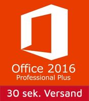 Microsoft Office Professional Plus 2016 für 1 PC ✔ MS® Office ✔ PRO VOLLVERSION