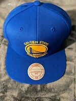 Golden State Warriors Mitchell & Ness NBA Snapback Hat Cap Solid Blue NEW***