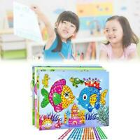 Art Sticker Mosaic Craft Kids Educational Puzzle Diamond Kit Toy Toys Stone A7U3