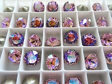6 Light Rose Glacier Blue Swarovski Crystal Chaton Stone 1088 39ss 8mm