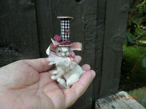 "OOAK Miniature Dollhouse Circus Bunny Rabbit 2.3"" by Elena Davidenko"