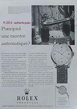 PUBLICITE ROLEX PERPETUAL MONTRE CHRONOMETRE DE 1951 FRENCH AD ADVERT PUB RARE
