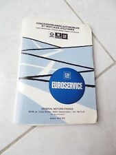 General Motors Euroservice lista distribuidores 1974/1975 Opel Bedford GM