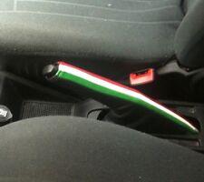 FIAT GRANDE PUNTO EVO RIVESTIMENTO FRENO in Vera PELLE NERA e tricolore italia