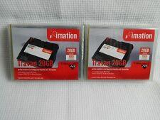New Sealed Imation Travan 20gb TR7 Data Cartridge - Lot of 2 - 10/20gb