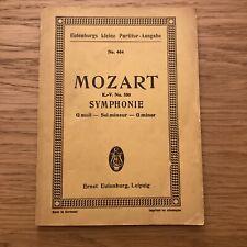 MOZART SYMPHONIE, G minor, K.V. 550 Eulenburg Pocket Score