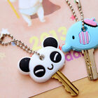 Beautiful Soft Key Top Head Cover Chain Keyring Silica gel Phone Strap CA12