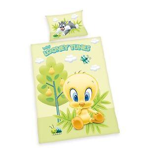 Herding Babybettwäsche Bettwäsche Looney Tunes Flanell 40/60 100/135 cm neu
