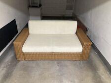 Designer Schlafcouch/Sofa Schlaffunktion Stoffbezug weis 180cm breit 180cm lang