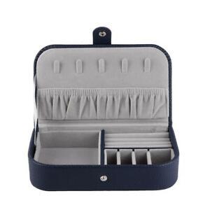Jewelry Box Necklace Ring Storage Organizer Travel PU Leather Trinkets Case Gift