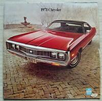 CHRYSLER CAR RANGE LF USA Sales Brochure 1971 New Yorker NEWPORT CUSTOM 300