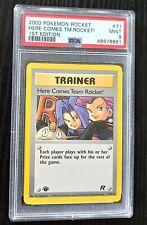 2000 Pokemon Rocket 71/82 Here Comes Team Rocket! 1st Edition - PSA 9 MINT