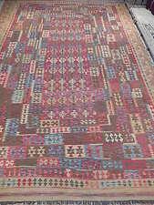 10' X 17' Navajo-Inspired Tribal Kilim Area Rug Perfect Condition Carpet