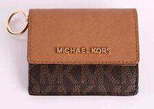 NWT Michael Kors Jet Set Travel Card Case Wallet Brown/Acorn $118