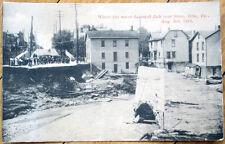 1915 Disaster Postcard: Flood Damage, 26th & State Street- Erie, Pennsylvania PA