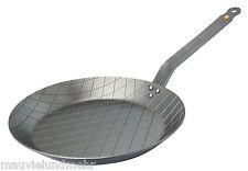 DE BUYER Steakpfanne MINERAL B ELEMENT 24 cm Eisenpfanne mit Rautenprägung