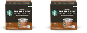 Lot of 2 - Starbucks Fresh Brew Ground Coffee Cans 8 Cans Pack Breakfast Blend