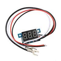 2X(Mini Digital Amperemeter Ammeter Stromanzeige Panelmeter 0-100A Blau LED F 3I
