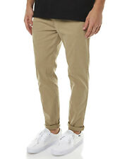"BRAND NEW + TAG BILLABONG 'SPENCER' CHINO PANT MENS 32"" SAND TAN STRETCH"