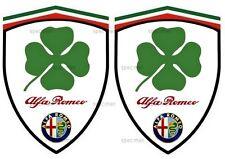 2 autocollants stickers adhésifs ALFA ROMEO Q4 (idéal pour aile avant)