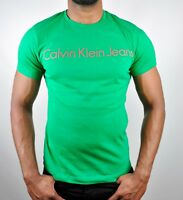 CALVIN KLEIN JEANS CK One Logo T-Shirt Slim Fit - Green