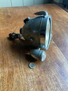 Very rare Large 1940's Bicycle / cycle motor lamp with side lights Winged Wheel