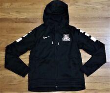 New Nike Women's M Arizona Wildcats Elite Stripe Full Zip Jacket Hoody Black $85