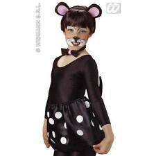 Childrens Mouse Fancy Dress Set Kit - Ears - BowTie & Tail - Costume Accessories