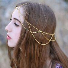 Chain - Very Elegant Medieval Headdress - Gold Tone