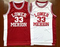 Kobe Bryant #33 Lower Merion High School Men Basketball Jersey Red White