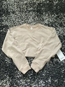 NWT Lululemon All Yours Cropped Crew in Cafe Au Lait! Size 6!
