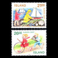 """Iceland 1989 - EUROPA STAMPS """"Children's Games"""" - Sc 675/6 MNH"""