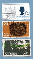 New Zealand stamps 1970-71 Pictorial définitif. 3 stamps