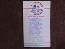 "Reno NV/Club Fortune WWII Color Litho PC/""Thank God for America"" Patriotic Poem"