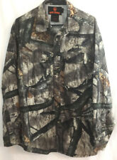 Game Winner Men's Camo Hunting Shirt Long Sleeves Pockets Roll Tab Sleeves SZ L