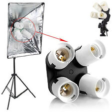 E27 4 in 1 Four Continuous Bulbs Holder For Photo Studio CFL Energy Saving Lamp