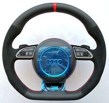 AUDI S Line ALCANTARA A6 A7 A8 S6 RS6 S7 RS7 S8 RS8 Steering wheel Flat Bottom