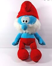 "2011 Nanco Peyo Papa Smurf 20"" Plush Toy Stuffed Animal Polystyrene Fill"