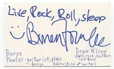 Drivin N Cryin - R.E.M. - Buren Fowler Signed 3x5 Index Card Autographed Band