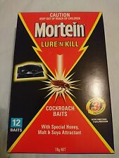 Genuine Mortein Lure & Kill COCKROACH BAITS (12 Baits) Made in New Zealand