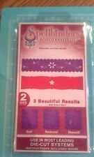 Spellbinders Die borderabilities - Poinsettia and stars border - EMboss cut