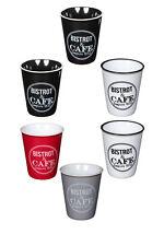 Bistro Design Espresso Coffee Cup Set, Ceramic Espresso Shot Cup, Set of 6